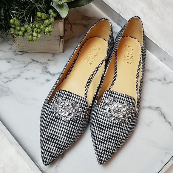 7effcf91204620 🚨NEW LIST Badgley Mischka Evelyn Houndstooth Flat